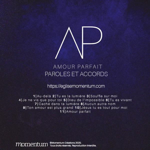 Tablatures accords album amour parfait église momentum
